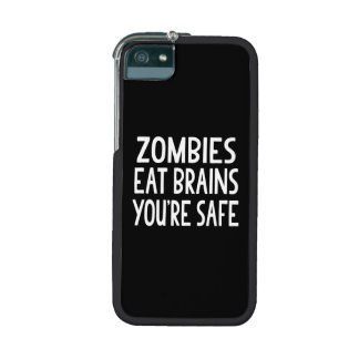 Zombies Eat Brains, You're Safe Cover For iPhone 5
