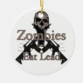 Zombies eat lead ceramic ornament