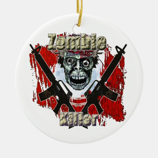 Zombies eat lead christmas ornament