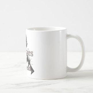 Zombies eat lead coffee mug
