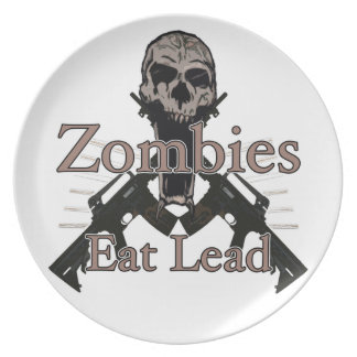Zombies eat lead dinner plate