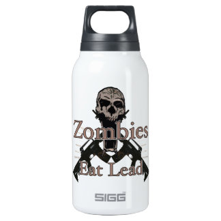 Zombies eat lead thermos water bottle