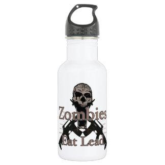 Zombies eat lead water bottle