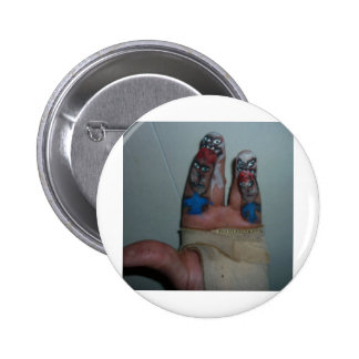 Zombies Eating Brains Funny Zombie Fingers Painted Button