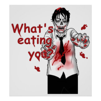 Zombies Eating Poster