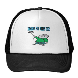 Zombies Fly Kites Too Mesh Hats