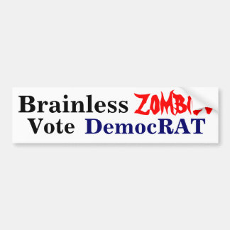 Zombies for Democrats Bumper Sticker