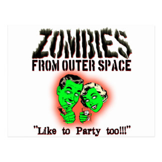 Zombies From Outer Space! Postcard