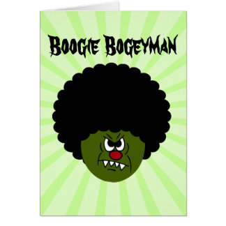 Zombies Go Boogie at the Disco on Halloween Card