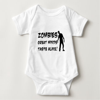 Zombies Great Minds Taste Alike Baby Bodysuit