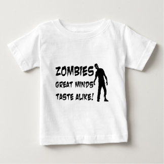 Zombies Great Minds Taste Alike Baby T-Shirt