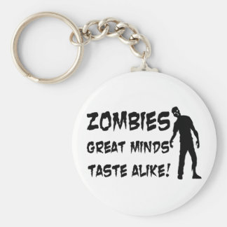 Zombies Great Minds Taste Alike Keychain