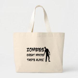 Zombies Great Minds Taste Alike Large Tote Bag
