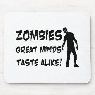 Zombies Great Minds Taste Alike Mouse Pad