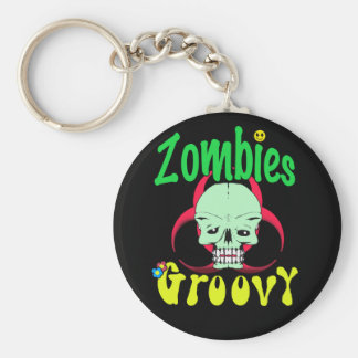 Zombies Groovy 70s 1 Keychains