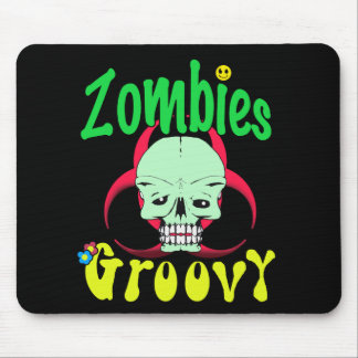 Zombies Groovy 70s 1 Mouse Pad