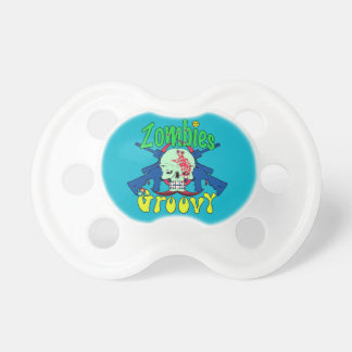 Zombies Groovy 70s BooginHead Pacifier