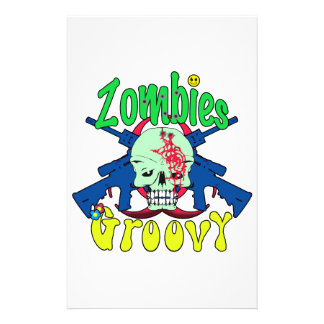 Zombies Groovy 70s Stationery