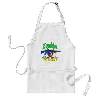 Zombies groovy adult apron