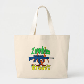 Zombies groovy tote bag
