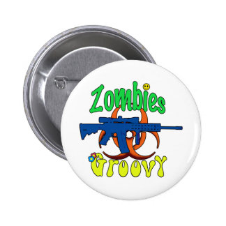 Zombies groovy pins