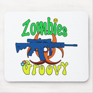 Zombies groovy mouse pad