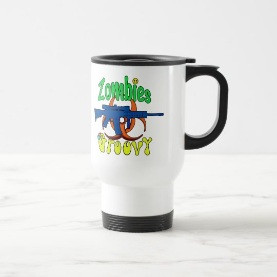Zombies Groovy Travel Mug
