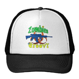 Zombies groovy trucker hat