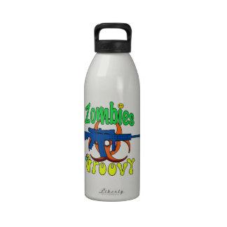 Zombies Groovy Reusable Water Bottle
