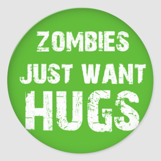 zombies Halloween goodies Classic Round Sticker