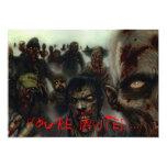 Zombies Halloween Invitation