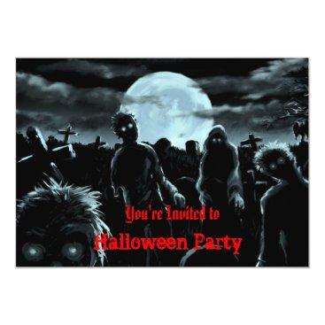 aquachild Zombies Halloween Party Invitation