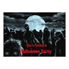 Zombies Halloween Party Invitation at Zazzle