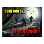 Zombies Halloween Party Invitation Post Card