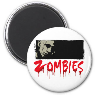 Zombies, Happy Haloween 2 Inch Round Magnet