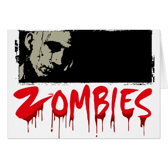 Zombies, Happy Haloween Card