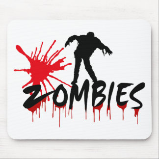 Zombies, Happy Haloween Mouse Pad