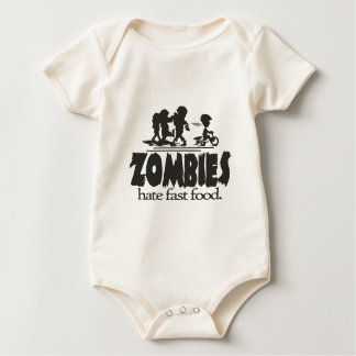 Zombies Hate Fast Food Baby Bodysuit
