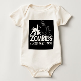 Zombies Hate Fast Food: Baby Clothes Baby Bodysuit