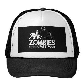 Zombies Hate Fast Food: Baseball Cap Trucker Hat