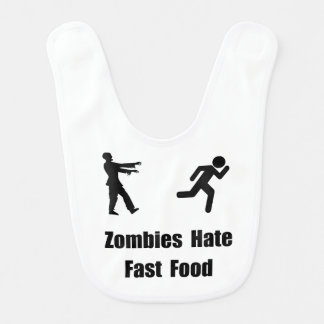 Zombies Hate Fast Food Bib