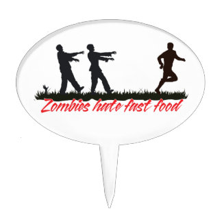 Zombies Hate Fast Food Cake Picks