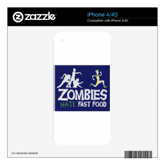 Zombies HATE Fast Food Decal For The iPhone 4S