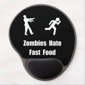 Zombies Hate Fast Food Gel Mouse Pad