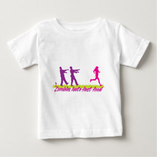 Zombies Hate Fast Food (Girls) Baby T-Shirt