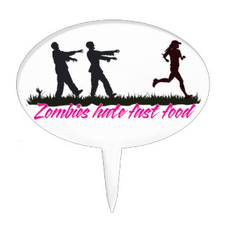 Zombies Hate Fast Food (Girls) Cake Pick