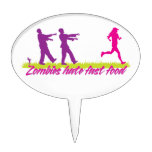 Zombies Hate Fast Food (Girls) Cake Topper