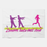 Zombies Hate Fast Food (Girls) Hand Towels