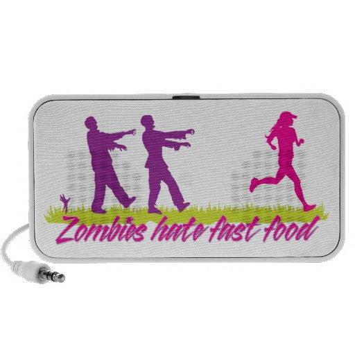 Zombies Hate Fast Food (Girls) Laptop Speakers