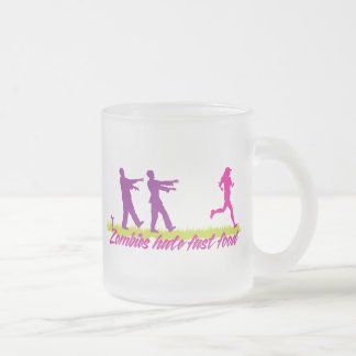 Zombies Hate Fast Food (Girls) 10 Oz Frosted Glass Coffee Mug